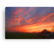 Sunset Over Harlow Common Canvas Print
