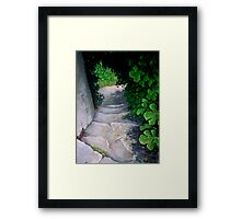 Careful now! Framed Print