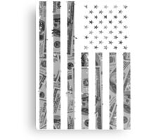 American Flag Money Metal Print