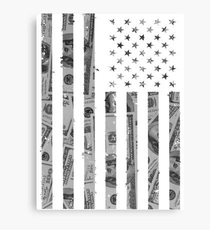 American Flag Money Canvas Print