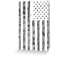 American Flag Money Greeting Card