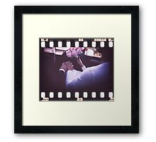 Wedding bride and bridegroom in car 35mm slide film strip Framed Print