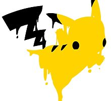Pikachu Melt by CrazyTigerLady