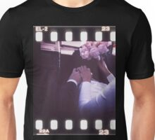 Wedding bride and bridegroom in car 35mm slide film strip Unisex T-Shirt