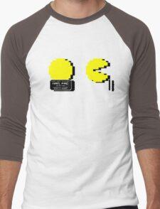 Pac Man Busted! -pixel version-  Men's Baseball ¾ T-Shirt