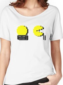 Pac Man Busted! -pixel version-  Women's Relaxed Fit T-Shirt