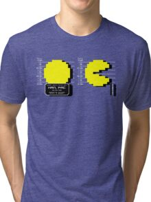 Pac Man Busted! -pixel version-  Tri-blend T-Shirt
