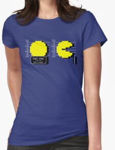 Pac Man Busted! -pixel version-  Womens Fitted T-Shirt