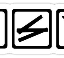 Hammer folding rule saw Sticker