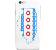 Chicago Flag in Illinois State Outline iPhone Case/Skin