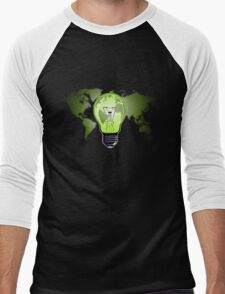 The Green Glow Men's Baseball ¾ T-Shirt