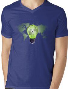 The Green Glow Mens V-Neck T-Shirt