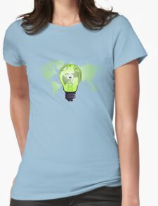The Green Glow Womens Fitted T-Shirt