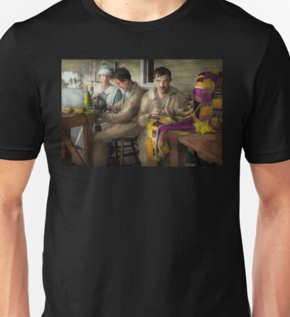 Sewing - Knitting helps me to relax... 1917 Unisex T-Shirt