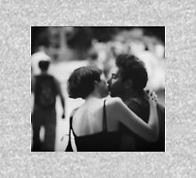 Man and woman kissing in park in black and white analog 35mm film photo Unisex T-Shirt