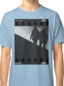 Man and woman holding hands in film noir analog 35mm film photo Classic T-Shirt
