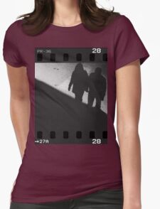 Man and woman holding hands in film noir analog 35mm film photo T-Shirt