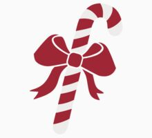 Candy cane bow Baby Tee