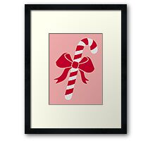 Candy cane bow Framed Print
