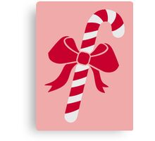 Candy cane bow Canvas Print