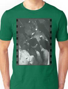 Couple walking in street black and white analog 35mm film photo Unisex T-Shirt
