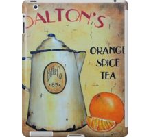 Orange Spice Tea Vintage Sign Art iPad Case/Skin