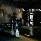 Venetian Interior after John Singer Sargent by Monica Vanzant