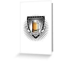 beer shield Greeting Card