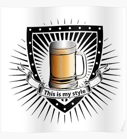 beer shield Poster