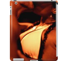 Man and woman kissing in sepia black and white analog 35mm film photograph iPad Case/Skin