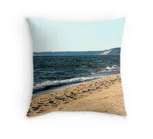 MI shore line Throw Pillow