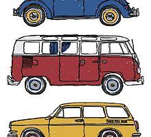 Vintage Volkswagen Family by strayfoto