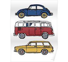 Vintage Volkswagen Family Poster