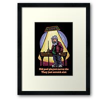 Old Pool Players Framed Print