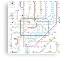 Shanghai metro map  Canvas Print