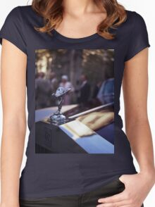 Rolls Royce in wedding analog medium format Hasselblad film photograph Women's Fitted Scoop T-Shirt