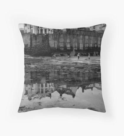 Robin Hoods Bay Throw Pillow