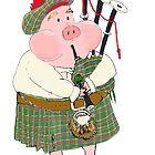 Bagpipe Pig by Jennifer Kilgour