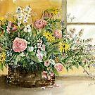 Basket Bouquet by arline wagner