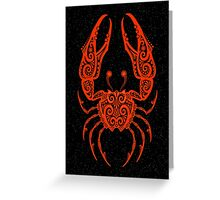 Red Cancer Zodiac Sign in the Stars Greeting Card
