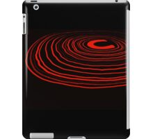 Neon Ripples (Red) iPad Case/Skin