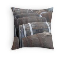 Whiskey Barrels Throw Pillow