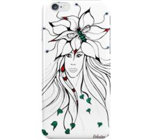 Earth Woman 5 - drawing by Valentina Miletic iPhone Case/Skin