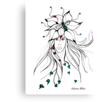Earth Woman 5 - drawing by Valentina Miletic Canvas Print