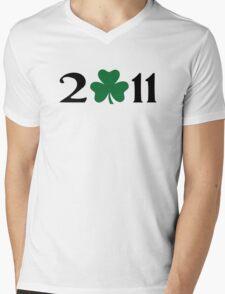 2011 shamrock Mens V-Neck T-Shirt