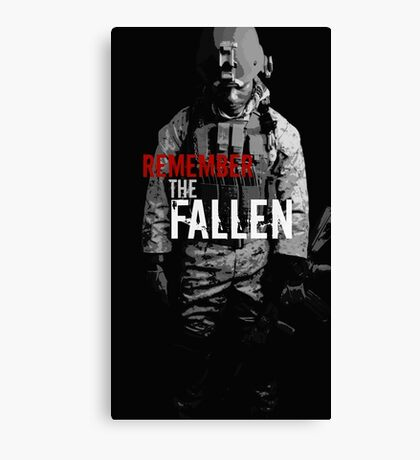 Remember the Fallen (RED) Canvas Print