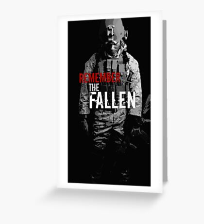 Remember the Fallen (RED) Greeting Card