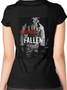 Remember the Fallen (RED) Women's Fitted Scoop T-Shirt