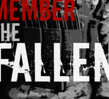 Remember the Fallen (RED) Sticker