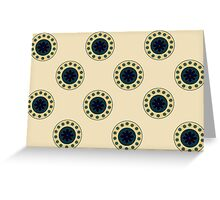 Antique Circles on Parchment  Greeting Card